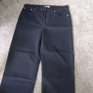 Madewell Slim Wide Leg Crop jean